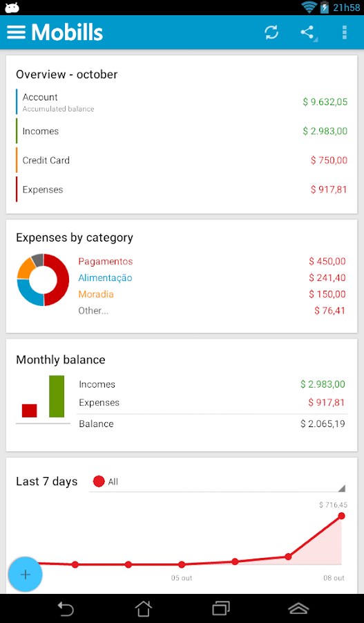 Mobills Finance Manager- screenshot