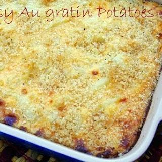 Cheesy Au Gratin Potatoes.
