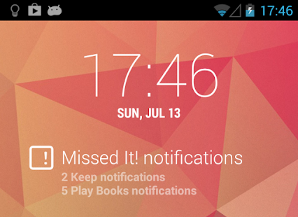 DashClock - Missed It! plugin: miniatura de captura de pantalla