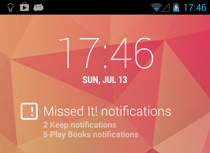 DashClock - Missed It! plugin: captura de pantalla