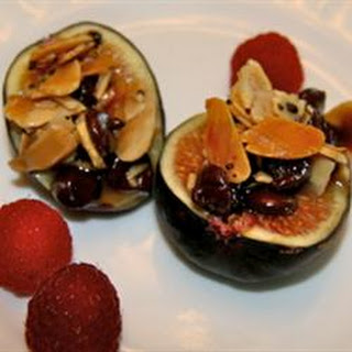 Figs Stuffed with Almonds and Chips