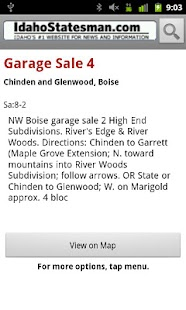 Idaho Statesman Garage Sales - screenshot thumbnail