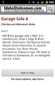 Idaho Statesman Garage Sales - screenshot thumbnail
