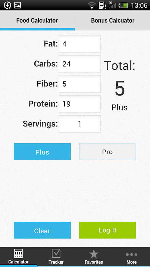MyScore Plus - Weight Watchers- screenshot