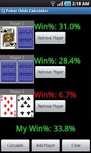 CJ Poker Odds Calculator- screenshot thumbnail
