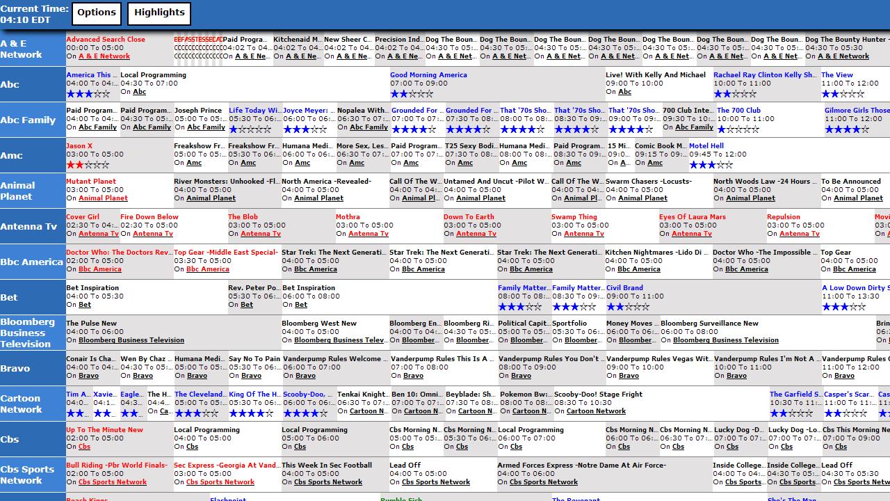 TV Listings Guide - screenshot