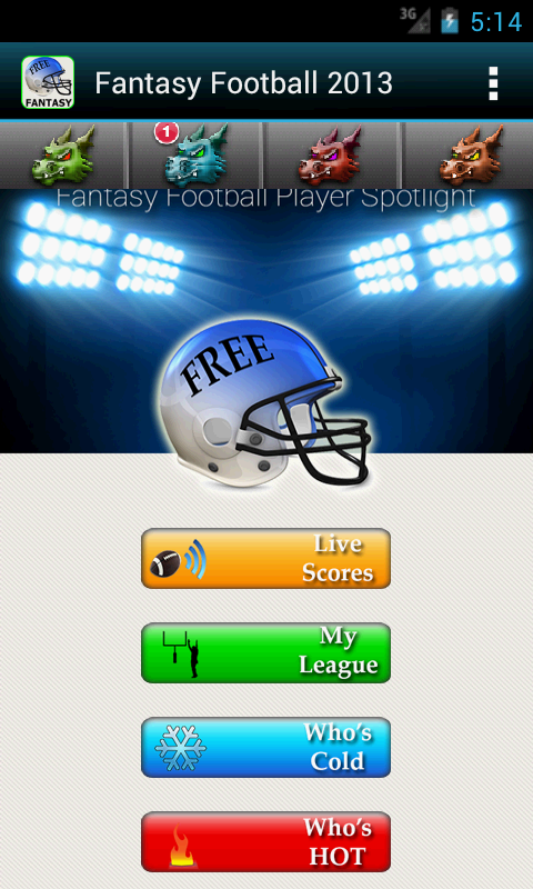 Fantasy Football -Hide My Text - screenshot