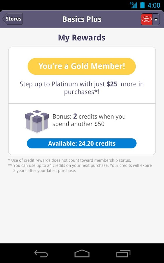 AppCard - Buy. Earn. Redeem. - screenshot