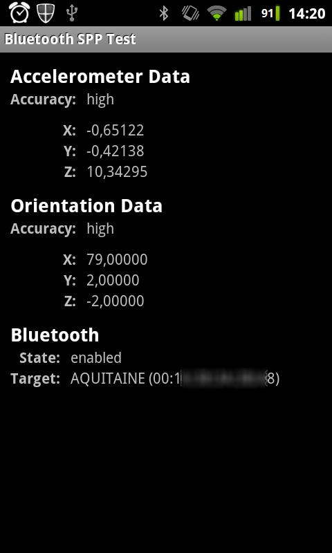Bluetooth SPP Test - screenshot