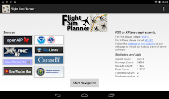 Screenshot of Flight Sim Planner