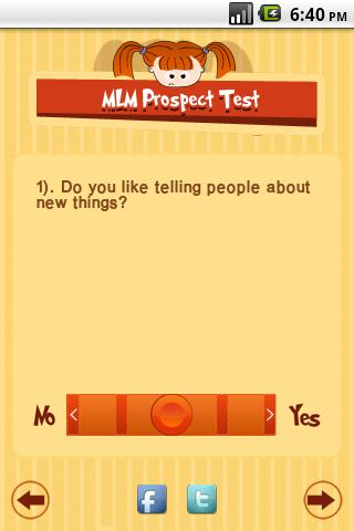 MLM Prospect Test - screenshot