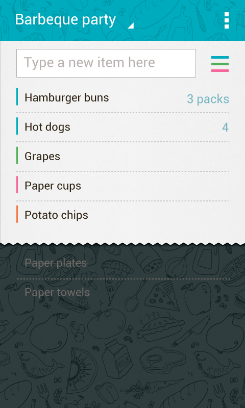 Buy Me a Pie! Grocery List- screenshot