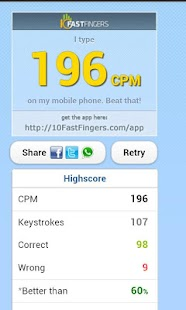 10FastFingers Typing Test - screenshot thumbnail