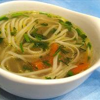 Chicken Soup with Whole Grain Noodles
