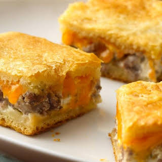 Sausage and Cheese Crescent Squares.