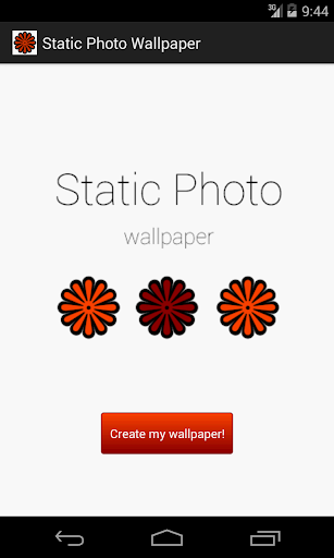 Static Photo Wallpaper