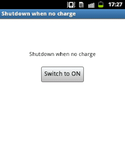 Auto ShutDown when no charge