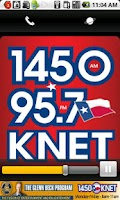 Screenshot of KNET 1450AM/95.7FM