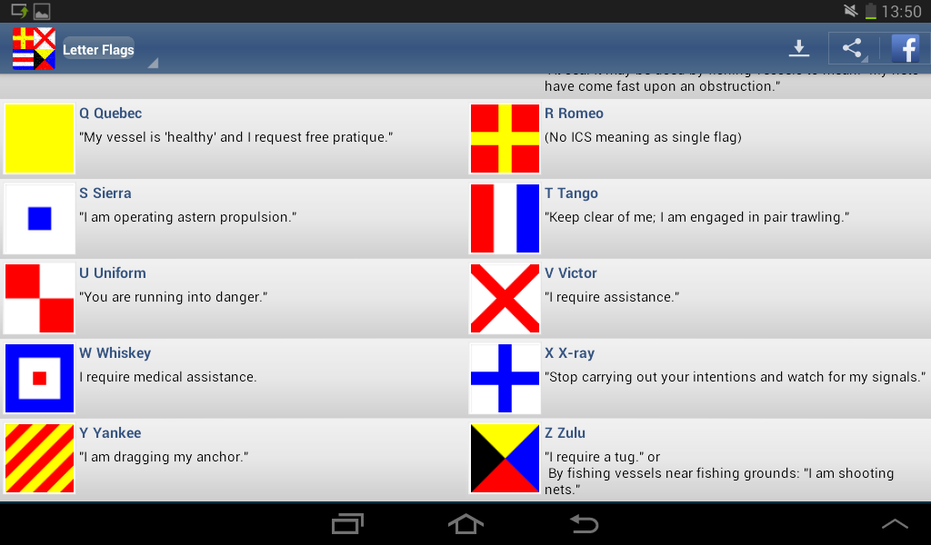 nautical flags screenshot
