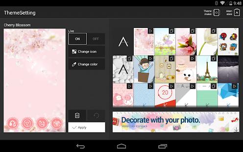 玩個人化App Cherry Blossom Atom theme免費 APP試玩