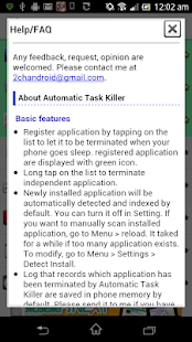Automatic Task Killer - screenshot thumbnail