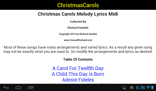 Christmas Carols Lyrics Midis