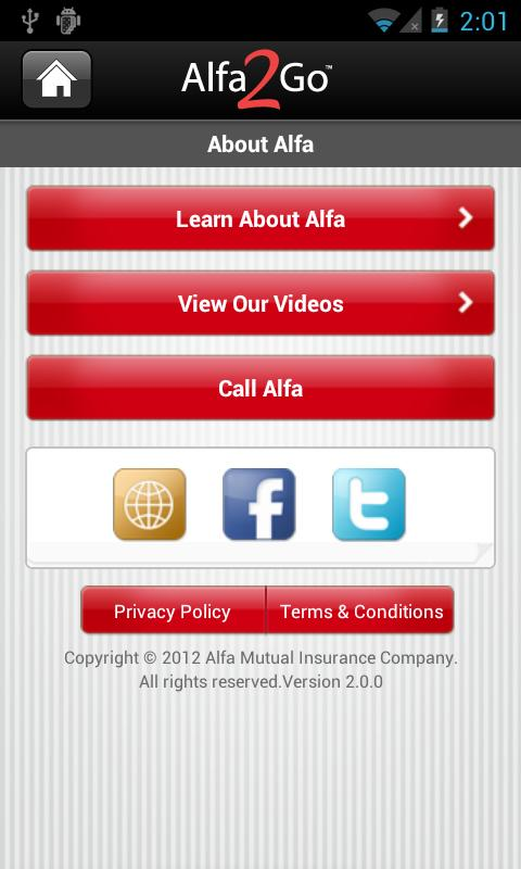 Alfa2Go- screenshot