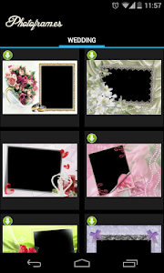 Wedding PhotoFrames screenshot 1