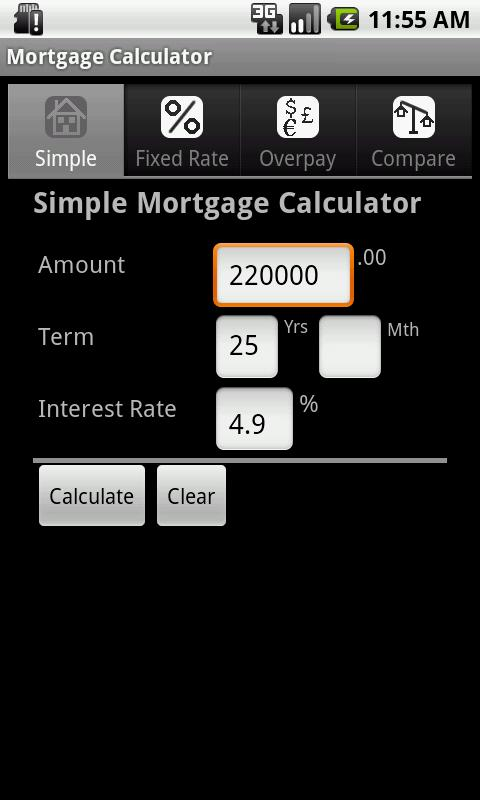 Mortgage Calculator - screenshot