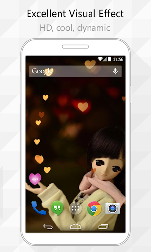 Lovely girl Live Wallpaper