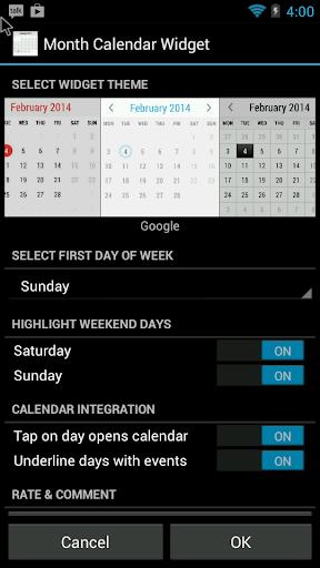 Monthly Calendar Gadget For Windows : Download month calendar widget google play softwares