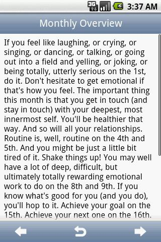 iHoroscope - screenshot