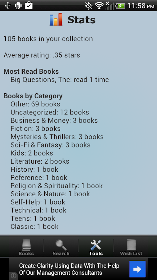Book Collection & Catalog- screenshot