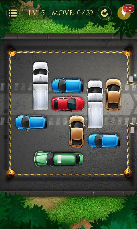 Car Parking Lot Puzzle Game