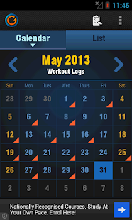 Gymprovise Gym, Workout Log - screenshot thumbnail