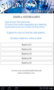 QUÍMICA 100 EXERCÍCIOS- screenshot thumbnail