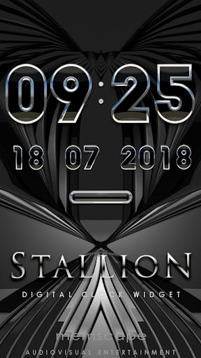 STALLION Digital Clock Widget