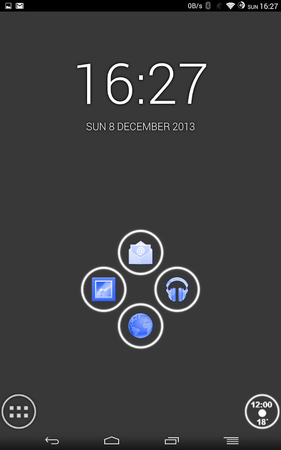 White and Blue Launcher Theme - screenshot