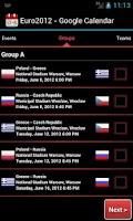 Screenshot of Euro2012 - Google Calendar