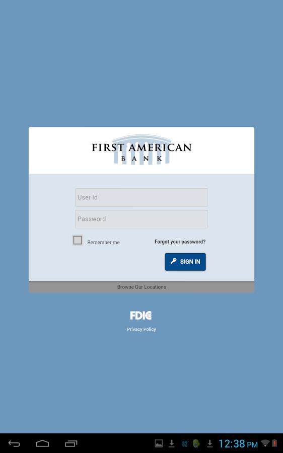 First American Bank Mobile - screenshot