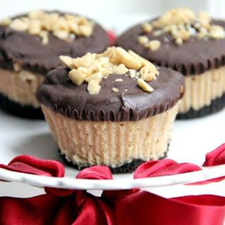 Mini Buckeye Cheesecakes.