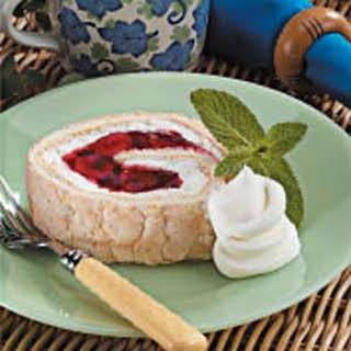 Cherry Angel Cake Roll.