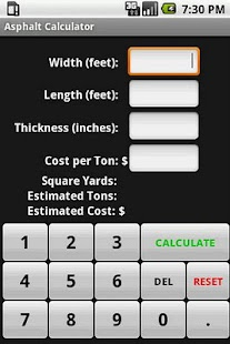 Asphalt Calculator- screenshot thumbnail