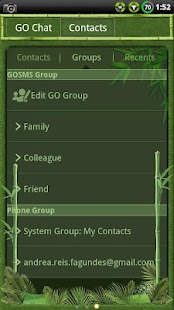 Bamboo GO SMS Theme - screenshot thumbnail