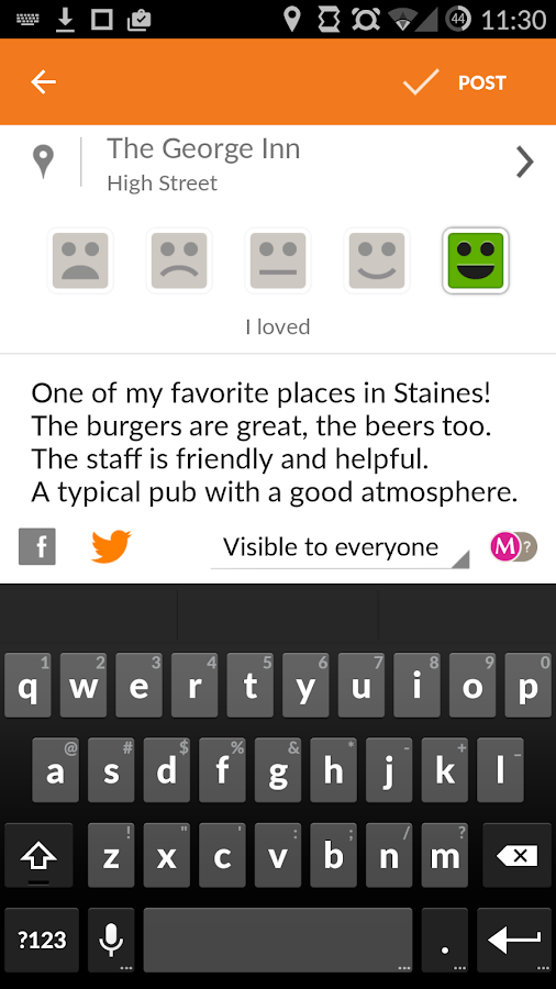 Tellmewhere - screenshot