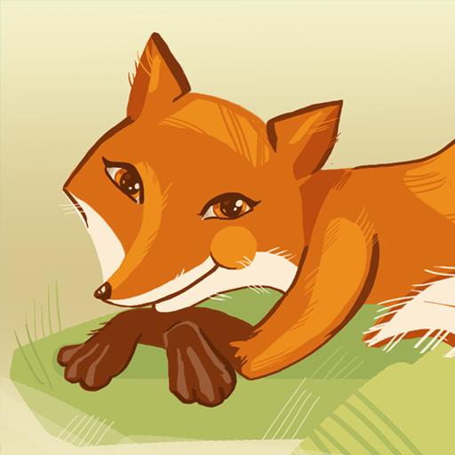 Fox with roller russian tale LOGO-APP點子