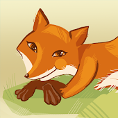 Fox with roller russian tale