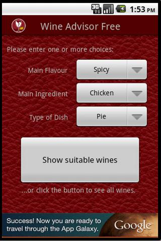 Wino the Wine Advisor (Free) – Capture d'écran