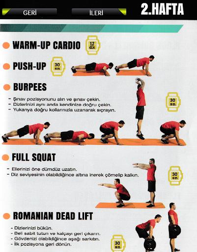 6 Haftalık Fitness Egzersizler
