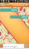 Screenshot of GO SMS THEME/GirlyVintage2